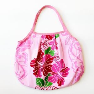 ハワイアングラニーバッグ Sサイズ ハイビスカス〈ピンク 〉【クリックポスト送料無料】オリジナルハンドメイド|atelier-ayumi