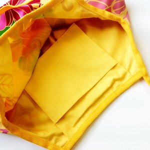 ハワイアングラニーバッグ Sサイズ ハイビスカス〈イエロー 〉【クリックポスト送料無料】オリジナルハンドメイド|atelier-ayumi|02