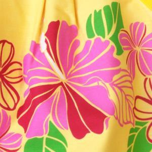 ハワイアングラニーバッグ Sサイズ ハイビスカス〈イエロー 〉【クリックポスト送料無料】オリジナルハンドメイド|atelier-ayumi|03