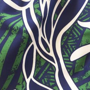 ハワイアングラニーバッグ Sサイズ パームツリー&タパ柄〈グリーン〉【クリックポスト送料無料】オリジナルハンドメイド|atelier-ayumi|02