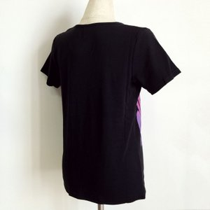 グラデーション プリントTシャツ トーチジンジャー 半袖フラTシャツ ブラック  LL クリックポスト 送料無料 ハワイアン フラダンス フラTシャツ|atelier-ayumi|02