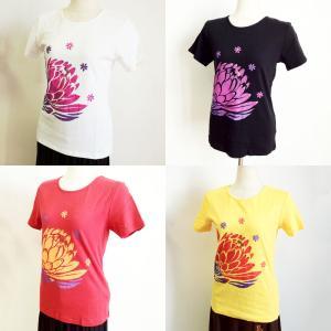 グラデーション プリントTシャツ トーチジンジャー 半袖フラTシャツ ブラック  LL クリックポスト 送料無料 ハワイアン フラダンス フラTシャツ|atelier-ayumi|04