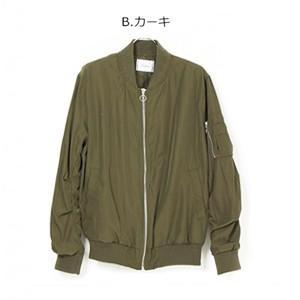 MA-1 ミリタリー ブルゾン M 〈カーキ〉ジャケット レディース オーバーサイズ アウター  送料無料 大人 かっこいい|atelier-ayumi