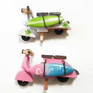 ベスパ ハワイアンサーフボード〈カラフルフラワー〉ペイント木彫り 【アジアン雑貨】【ハワイアン雑貨】|atelier-ayumi|02