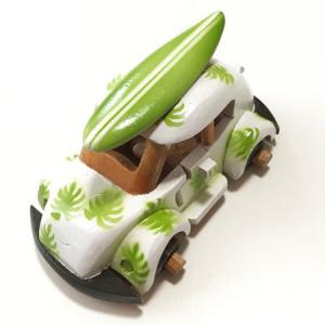 ハワイアンウッドカー サーフボードワーゲン〈イエローハイビスカス〉ペイント木彫り 【アジアン雑貨】【ハワイアン雑貨】|atelier-ayumi