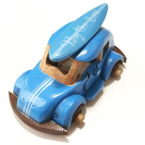 ハワイアンウッドカー サーフボードワーゲン〈レインボーグラフィック〉ペイント木彫り 【アジアン雑貨】【ハワイアン雑貨】|atelier-ayumi