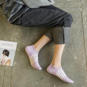 レディース スニーカーソックス ストライプ ボーダー メール便対応可能  靴下 靴した ナチュラル 森ガール 山ガールに!条件付き 送料無料|atelier-ayumi|03
