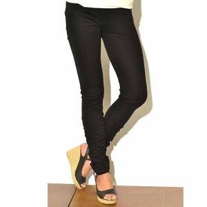裾くしゅくしゅ レギンス プレーン〈ブラウン/カーキ〉 送料無料 クリックポスト スパッツ ヨガパンツに タイ製|atelier-ayumi