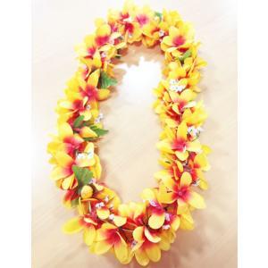 プルメリアレイ 〈 ライトオレンジ 〉 ハワイアンフラワーレイ フラダンスレイ 造花 ハワイアンレイ ハワイアンウエディング atelier-ayumi