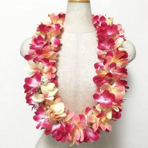 プルメリアレイ 〈 トロピカル 〉 ハワイアンフラワーレイ フラダンスレイ 造花 ハワイアンレイ ハワイアンウエディング atelier-ayumi