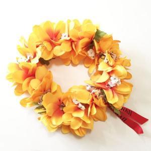 プルメリアヘッドバンド〈ライトオレンジ〉 ハワイアンレイ フラワーレイ  クリックポスト対応可能 フラガール花冠 ハクレイ ハワイアンウエディングに atelier-ayumi