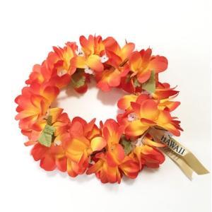 プルメリアヘッドバンド〈オレンジ〉〈ハワイアンレイ〉〈フラワーレイ〉 クリックポスト対応可能 フラガール花冠 ハクレイ ハワイアンウエディングに atelier-ayumi