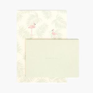レターセット フラミンゴ 01 Flamingo メール便対応可能 ヤシリーフ ヤシの木 封筒 便箋 ハワイアン 雑貨 手紙 レター ステーショナリー 文房具 南国 ナチュラル atelier-ayumi