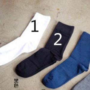 レディース パイル クルーソックス 無地 プレーンカラー 〈 ブラック 〉靴下 ビジネスソックス メール便対応可能 ショートソックス 条件付き 送料無料|atelier-ayumi