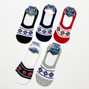 メンズ スニーカー ソックス オルテガ柄 全色5足組 送料無料 紳士ソックス 靴下 靴した ビジネスソックス ショートソックス フットカバー ステルスソックス atelier-ayumi