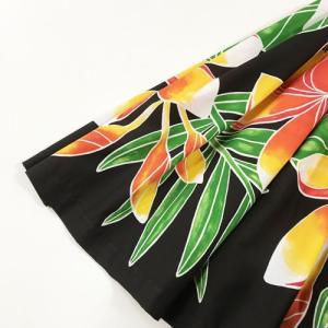パウスカート 75cm ウエスト無地 プルメリア 〈ブラック〉【送料無料】ハワイアンフラダンス衣装 4本ゴム atelier-ayumi 02