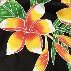 パウスカート 75cm ウエスト無地 プルメリア 〈ブラック〉【送料無料】ハワイアンフラダンス衣装 4本ゴム atelier-ayumi 03