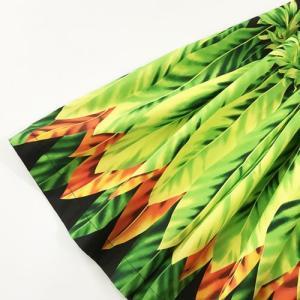 パウスカート 75cm ウエスト無地 ティーリーフ柄〈ブラック〉【送料無料】ハワイアンフラダンス衣装 4本ゴム|atelier-ayumi|02