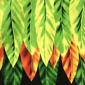 パウスカート 75cm ウエスト無地 ティーリーフ柄〈ブラック〉【送料無料】ハワイアンフラダンス衣装 4本ゴム|atelier-ayumi|03