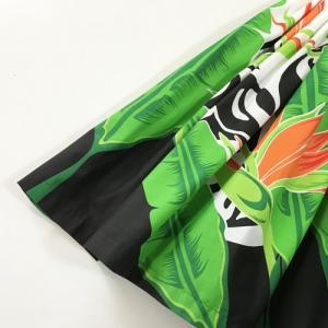 パウスカート  75cm タパ柄&ストレリチア(極楽鳥花)〈ブラック&ホワイト 〉【送料無料】ハワイアン フラダンス 衣装 4本ゴム|atelier-ayumi|02