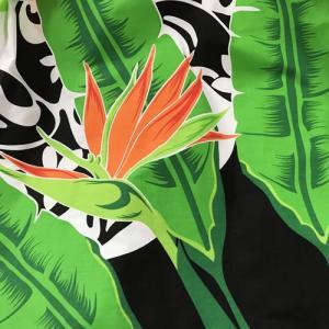パウスカート  75cm タパ柄&ストレリチア(極楽鳥花)〈ブラック&ホワイト 〉【送料無料】ハワイアン フラダンス 衣装 4本ゴム|atelier-ayumi|03