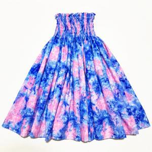 パウスカート 67cm 72cm 77cm スプラッシュ むら染 総柄 〈 ブルー ピンク 〉 ハンドメイド 送料無料 ハワイアン フラダンス衣装 日本製 ネイビー パウ|atelier-ayumi