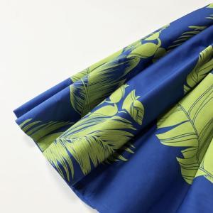 パウスカート 4本ゴム 67cm 72cm 77cm トロピカルリーフ & ヘリコニア ロイヤルブルー & シトロンイエロー 送料無料 ハワイアンフラダンス衣装|atelier-ayumi|02