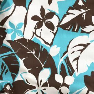 パウスカート 72cm 77cm ウエスト無地 プルメリア 総柄〈ホワイト&ブルー〉 4本ゴム ハンドメイド 送料無料 ハワイアンフラダンス  日本製 水色 茶色 atelier-ayumi 03