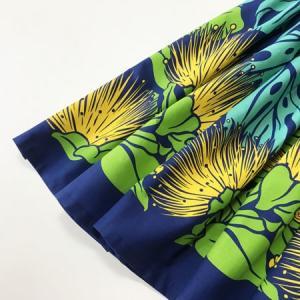 パウスカート 72cm モンステラ & レフア〈ロイヤルブルー〉 送料無料 4本ゴム ハンドメイド ハワイアンフラダンス衣装  オヒア レフア|atelier-ayumi|02
