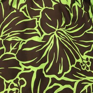 パウスカート 72cm ハイビスカス 総柄〈ブラウン&ライムグリーン〉 4本ゴム ハンドメイド 送料無料 ハワイアン フラダンス|atelier-ayumi|03