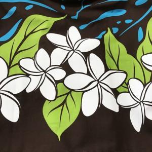 パウスカート 72cm / 77cm プルメリア モンステラ 〈ブラウン ブルー〉 送料無料 ハワイアン フラダンス 茶 水色 リーフ 日本製|atelier-ayumi|03