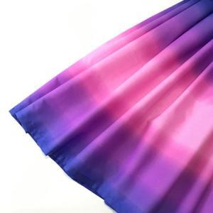アウトレット パウスカート 77cm ボーダー グラデーション〈ブルー&パープル&ピンク〉4本ゴム ハワイアン フラダンス 衣装 パウ 日本製 青 紫|atelier-ayumi|02