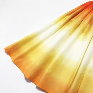 パウスカート 67cm 72cm 77cm ボーダー グラデーション〈オレンジ&イエロー〉4本ゴム ハワイアン フラダンス 衣装 パウ 日本製 黄色|atelier-ayumi|02