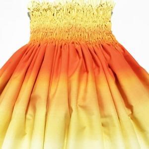 パウスカート 67cm 72cm 77cm ボーダー グラデーション〈オレンジ&イエロー〉4本ゴム ハワイアン フラダンス 衣装 パウ 日本製 黄色|atelier-ayumi|03