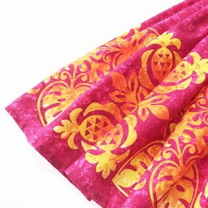パウスカート ハワイアン キルト グラデーション 72cm 77cm 〈 ピンク オレンジ 〉 むら染め 送料無料 4本ゴム フラダンス 衣装 4ヤード 日本製  パイナップル atelier-ayumi 02