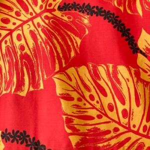 パウスカート ウエスト無地 67cm/77cm アイランドリーフ柄 〈ブラック&ターコイズ〉4本ゴム 送料無料 ハワイアン フラダンス衣装 水色 青 日本製|atelier-ayumi|03