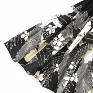 パウスカート 72cm ウエスト無地 オーキッド(カトレア) 〈ブラック〉 送料無料 ハワイアン フラダンス衣装 4本ゴム 黒 洋蘭|atelier-ayumi|02