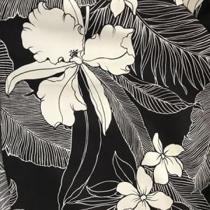 パウスカート 72cm ウエスト無地 オーキッド(カトレア) 〈ブラック〉 送料無料 ハワイアン フラダンス衣装 4本ゴム 黒 洋蘭|atelier-ayumi|03
