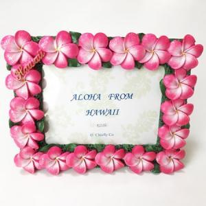 プルメリア フォトフレーム ピンク ハワイアン雑貨 写真立て 結婚式 ハワイアンウエディングに 卒業式などの思い出作りに 南国 トロピカル 芳香剤|atelier-ayumi|02