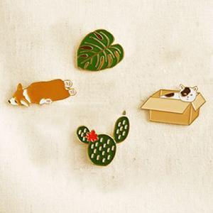 ピン バッジ ビションフリーゼ キャット ピンバッチ ピンズ bichon frise バッグに 帽子に 手作り雑貨に DOG 日本犬 アフロ犬 ねこ ブローチ アクセ atelier-ayumi