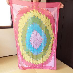 シースルー リゾート パレオ 〈ハワイアン トロピカル〉 送料無料 紫外線対策 海に、プールに、水着に、ビキニに♪ スカーフ|atelier-ayumi