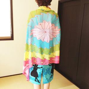シースルー リゾート パレオ 〈ハワイアン トロピカル〉 送料無料 紫外線対策 海に、プールに、水着に、ビキニに♪ スカーフ|atelier-ayumi|02