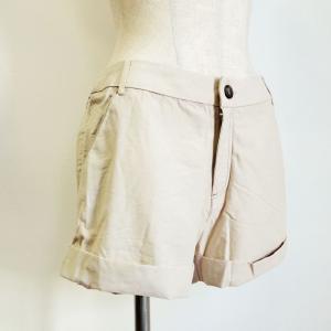 ショートパンツ〈ベージュ〉11L W69〜77cm 送料無料 水着の上に♪ ホットパンツ ズボン|atelier-ayumi