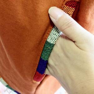 裏起毛♪ゲレ生地&マルチボーダー切り替えプルオーバートップス ネパール製〈オレンジ〉【エスニック】【送料無料】|atelier-ayumi|03