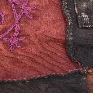 ネパール製 パッチワーク ジップアップ パーカー フラワー刺繍〈ブラック〉 エスニック 送料無料 アウター|atelier-ayumi|02