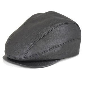 帽子 鹿革(エゾシカ) ハンチング シャチ型 ブラック|atelier-doraneko