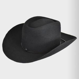 帽子 ウール ウエスタンハット Type2.0(カウボーイ・テンガロンハット)全3色/ブラック|atelier-doraneko