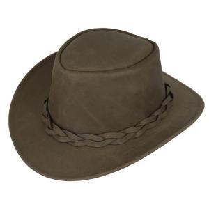 帽子 牛革のウエスタンハット(テンガロンハット/カウボーイハット)/ブラウン|atelier-doraneko