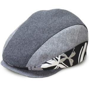 帽子 ハンチング グレー柄ハンチング 手作り日本製 サイズ調整可|atelier-doraneko