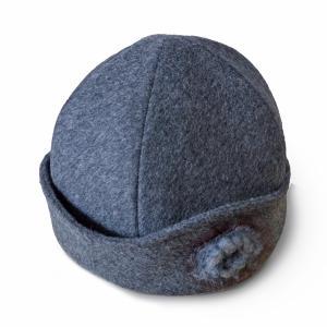 帽子レディースハット ウールシャロットハット 手作り日本製 どら猫オリジナル|atelier-doraneko